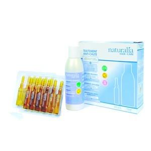NATURALIA TRAITEMENT ANTI-CHUTE 12 ampoulesx5 ml + shampooing energisant 150 ml
