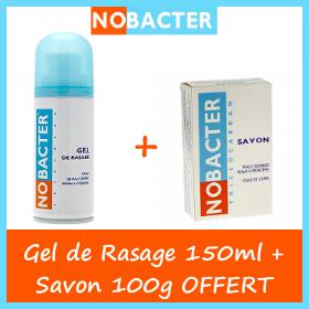 Nobacter GEL de Rasage peaux sensibles 150 ml + Savon 100g OFFERT