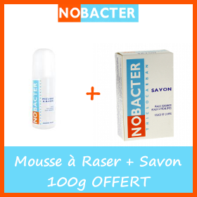 Nobacter Mousse à raser + Savon 100g OFFERT