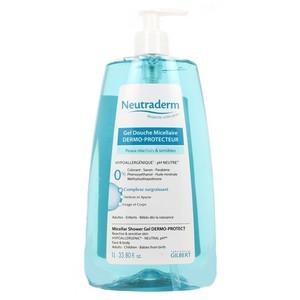 Neutraderm Gel douche micellaire peaux réactives et sensibles 1L