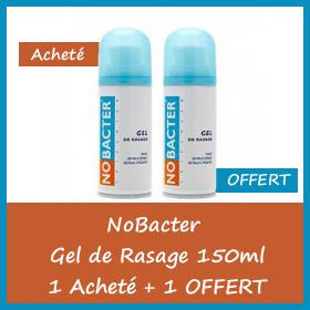 OFFRE Nobacter GEL de Rasage peaux sensibles 150 ml - 1 Acheté + 1 OFFERT