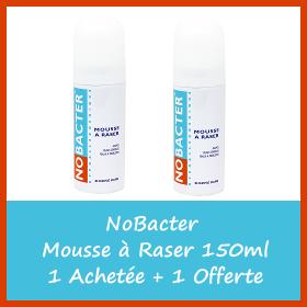 Offre NOBACTER Mousse à Raser 150ml - 1 Acheté = 1 Offert