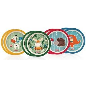 Nûby Collection BAMBOU : 2 Pièces Assiettes Plates Réf : ID5500