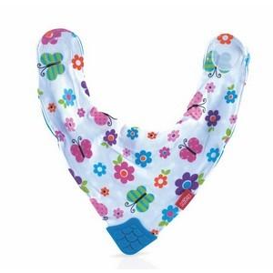 Nûby Bavoir imprimé en tissu avec téton triangulaire pour poussée dentaire +3mois Réf : ID4290