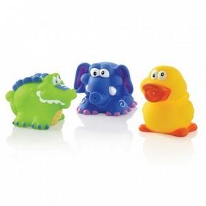 Nûby Jouets de bain (crocodile, canard, éléphant) +4 mois Réf : ID6022