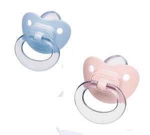 Nuk sucette silicone baby bleu ou rose choix d'age