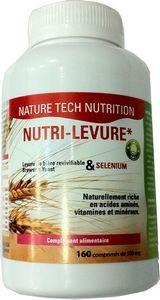 Nutri-levure levure de bière revivifiable+ sélénium 160 comprimés de 500mg