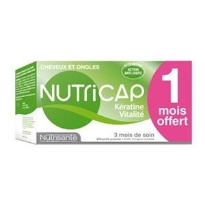 Nutrisante Nutricap Kératine-Vitalité 90 Capsules 3 Mois de soin (1 Offert)