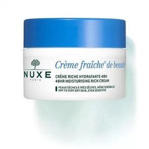 Nuxe Crème Fraîche de Beauté Enrichie Hydratante Apaisante 48 H (Peaux Sèches) (50 ml)