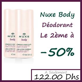 OFFRE Nuxe body Déodorant Longue Durée 50ml - Le 2ème à -50% (Lot de 2)