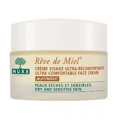 Nuxe rêve de miel crème visage ultra-réconfortante nuit (50 ml)