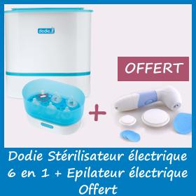 Dodie Stérilisateur Electrique 6 en 1 (1 an de garantie) + Épilateur Electrique (Royal Thermes) offert