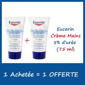 Eucerin Crème Mains 5% d'urée 75ml - 1 Achetée + 1 OFFERTE