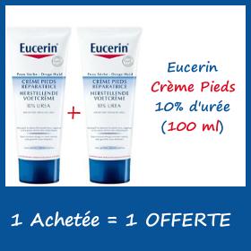Eucerin Crème Pieds 10% d'urée 100ml - 1 Achetée + 1 OFFERTE