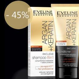 Offre spéciale Eveline Argane Keratine, Shampooings + Après Shampooings