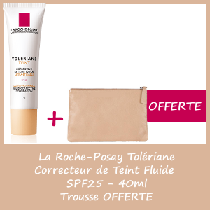 Offre La Roche-Posay Tolériane Correcteur de Teint Fluide #10 spf 25 - Trousse OFFERTE