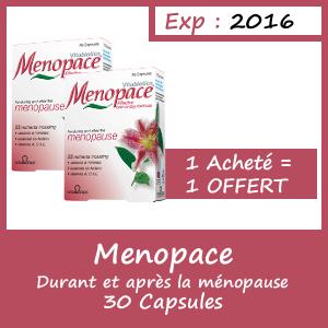 Offre Menopace 30 comprimés - 1 Acheté = 1 Offert