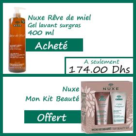 Offre Nuxe rêve de miel gel lavant surgras visage et corps 400ml - Mon Kit de beauté Nuxe OFFERT