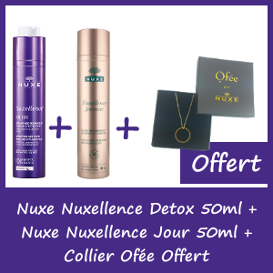 Offre Nuxe Nuxellence® DETOX nuit 50ml + Nuxellence Jour 50ml = Collier Ofée Offert