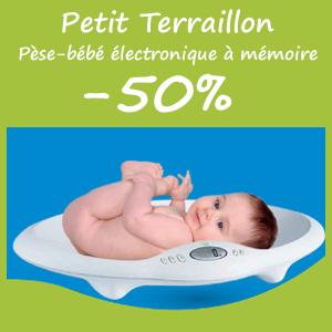 Offre PETIT TERRAILLON Pèse-bébé électronique - Remise de -50%