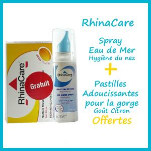 Offre Rhinacare Spray Eau de Mer + Pastilles Gorges offertes