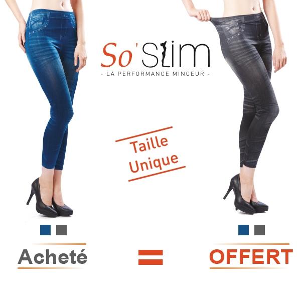 So Slim Jeans Minceur bleu acheté =  So Slim Jeans Minceur Gris Offert