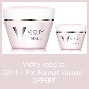 Offre Vichy Idéalia Pot 50ml + Pot format voyage OFFERT