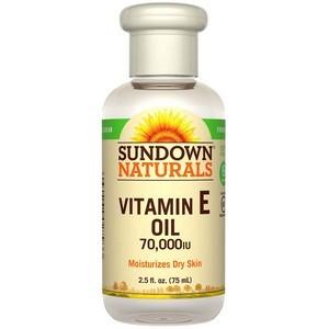 Sundown Naturals, Huile à la Vitamine E, 70 000 UI (75 ml)