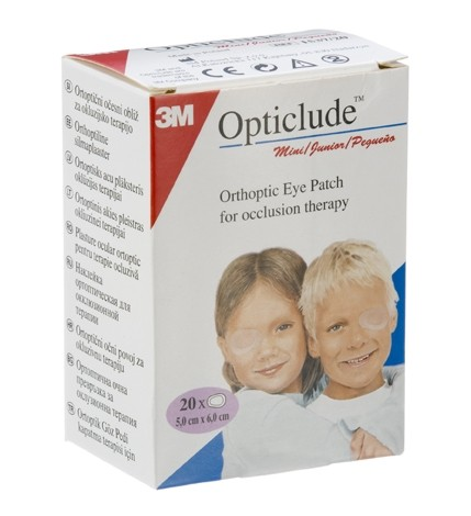 Opticlude mini/junior Patchs occlusifs de l'œil 20 pansements
