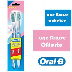 Offre Oral-b Delicate White 3effect 40 Medium (1+1 gratuit)