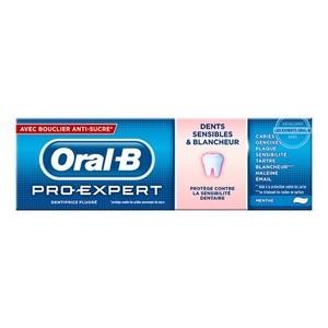 Oral-B dentifrice pro-expert dents Sensibles et Blancheur 75ml