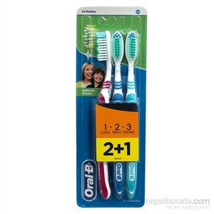 Oral-B Brosse 3-effect natural fresh 40 medium (2+1)