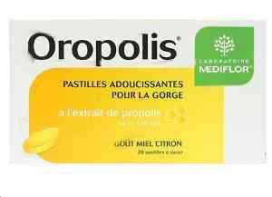 Oropolis pastilles adoucissantes pour la gorge boite de 20 choix de gout