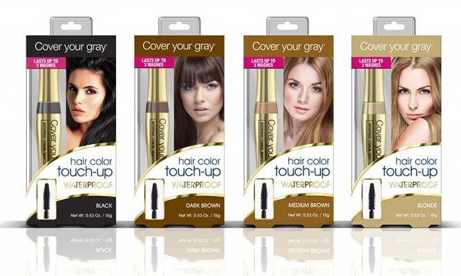 Cover your gray Waterproof BRUSH IN hair color touch-up :Brosse Colorant pour Cheveux 15g