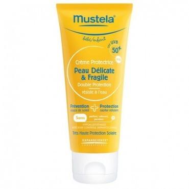Mustela Crème solaire Protectrice Peau Délicate et Fragile SPF 50+ (75 ml)
