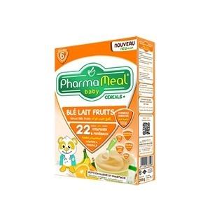 Pharmameal céréales halal blé lait fruit 350g