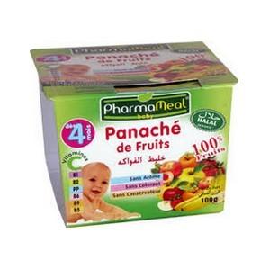 Pharmameal compotes halal fruits (panache de fruits) 120g
