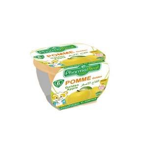 Pharmameal compotes halal fruits (pommes golden) 120g
