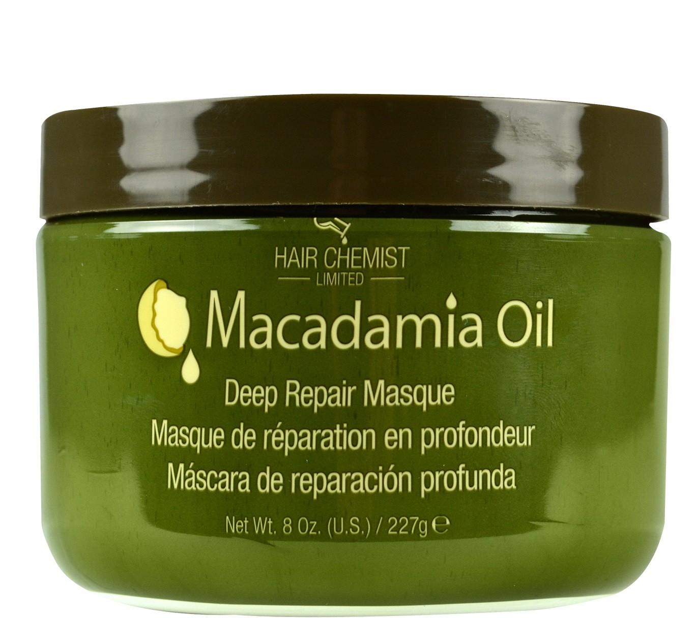 Hair Chemist Macadamia Oil  Deep Repair Masque - Masque de Réparation en Profondeur Pour Cheveux Sec ou Abîmés 227g