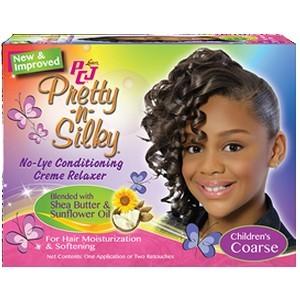 PCJ ® Pretty-N-Silky ® Crème revitalisante pour les enfants No-Lye Relaxer