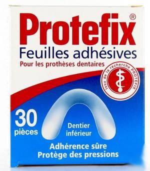 Protefix 30 feuilles adhésives dentier inférieur