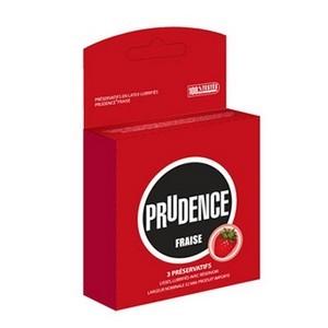 Prudence fraise préservatif x3