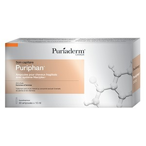 Puriaderm puriphan soin capilaire anti-chute 30 ampoules
