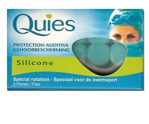 QUIES boules de Protection auditives spécial natation en silicone (3 paires)