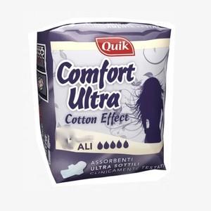 Quik confort ultra fines avec ailes 12 serviettes de nuit hygiéniques