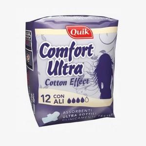 Quik confort ultra fines avec ailes 12 serviette hygiéniques