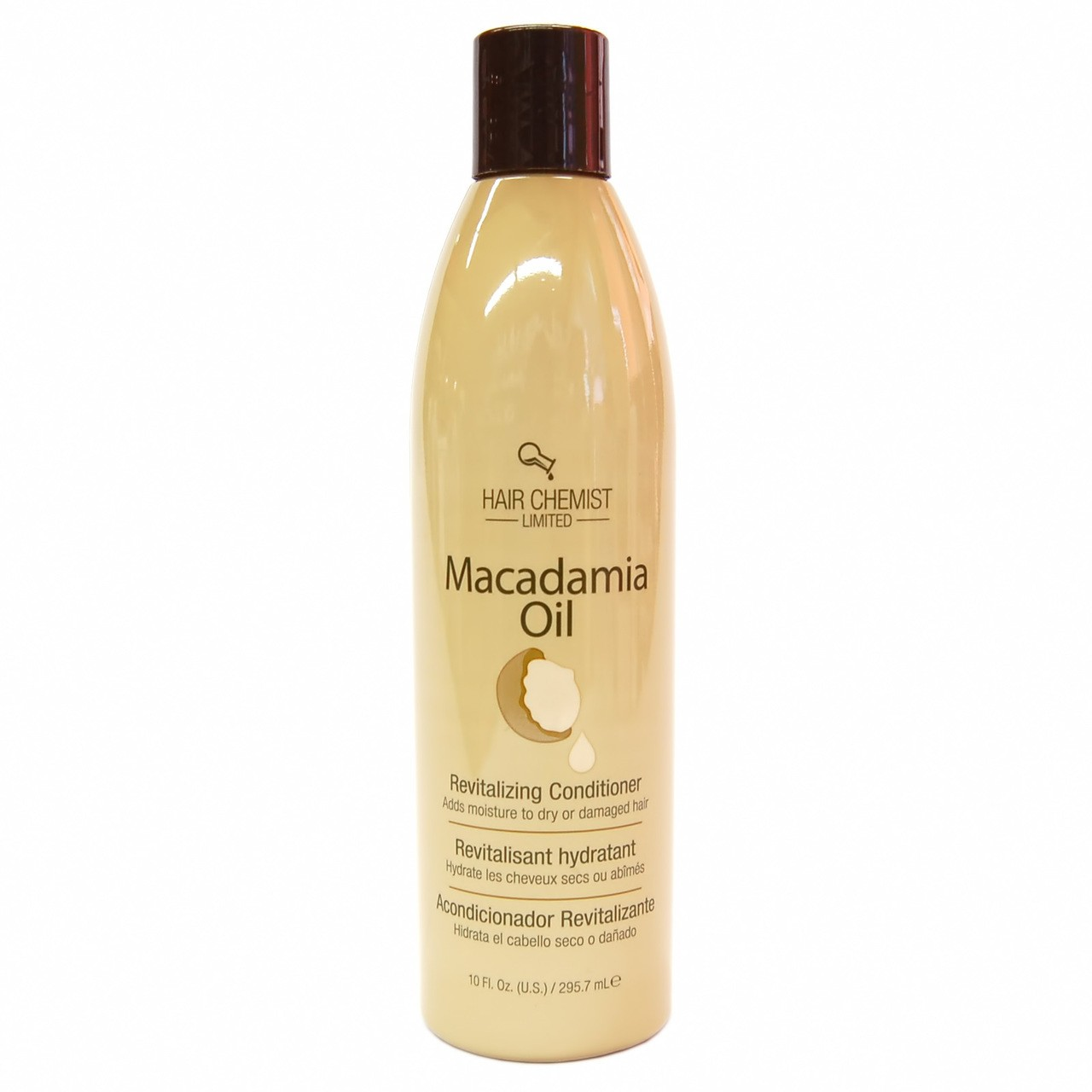 Hair Chemist  Macadamia Oil Revitalizing Conditioner - Après-Shampooing Quotidien Tous Types de Cheveux 295.7 ml