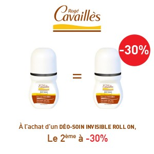 Rogé Cavaillès déodorants anti-traces roll on lotx2, 2 ème à -30%