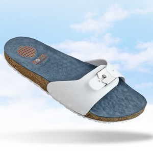 WOCK Sandale de confort Sanus Antidérapante Lanière réglable