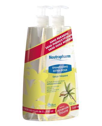 Gilbert Neutrapharm Shampooing Extra Doux Usage fréquent lot de 2x500ml
